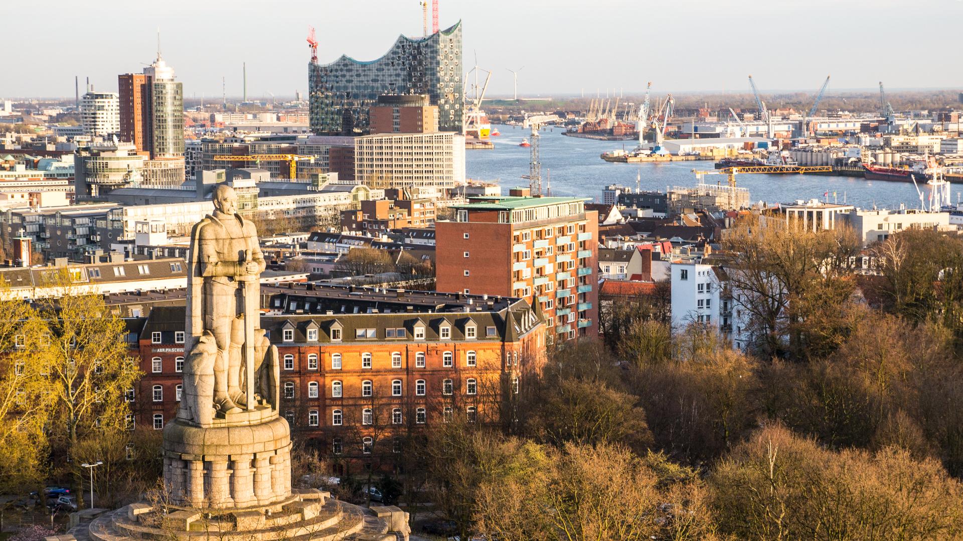 Das Bismarck-Denkmal in Hamburg