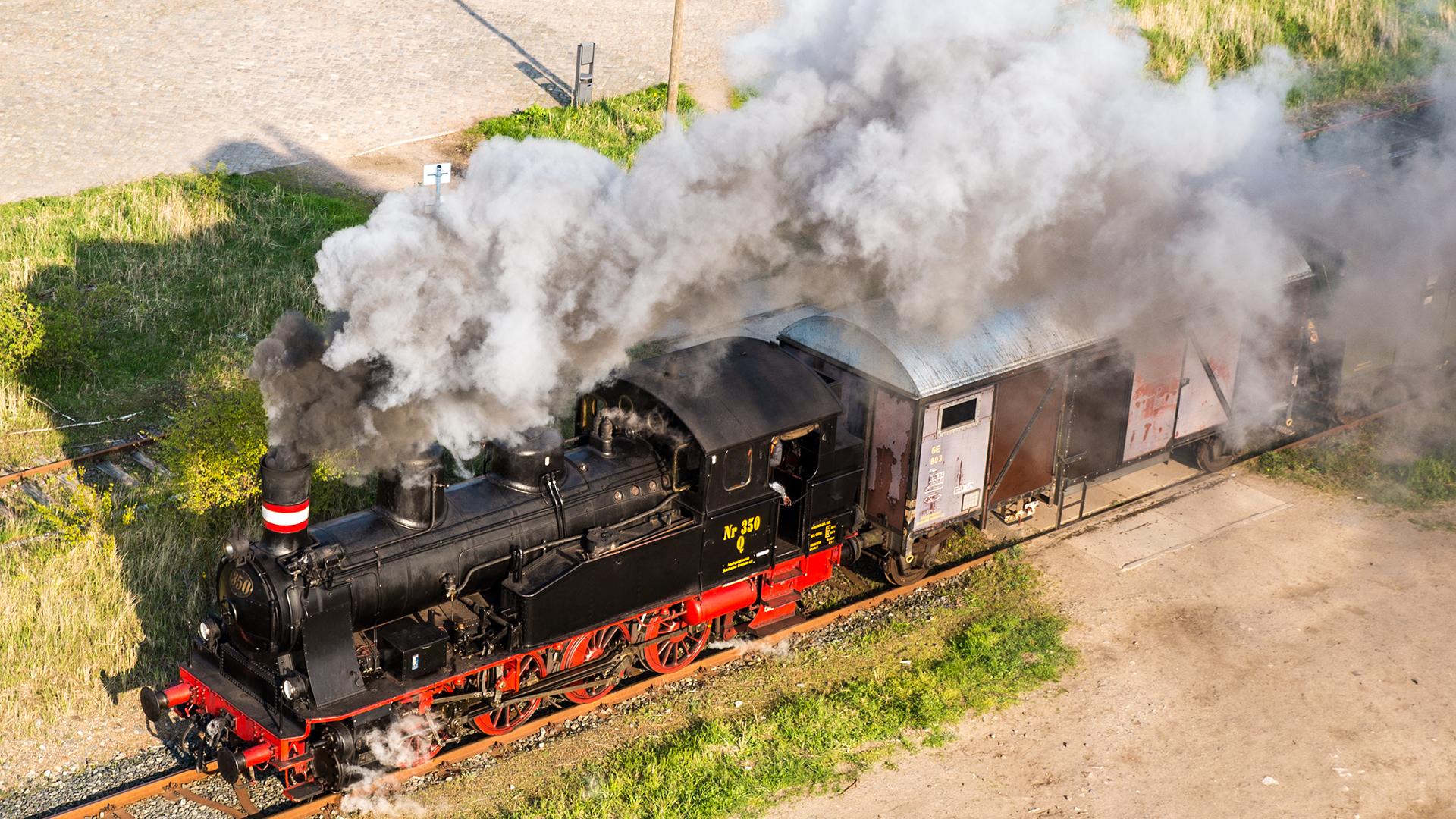 """Dampflok Nr. 350 """"Karoline"""" Dn2t (0-8-0)"""