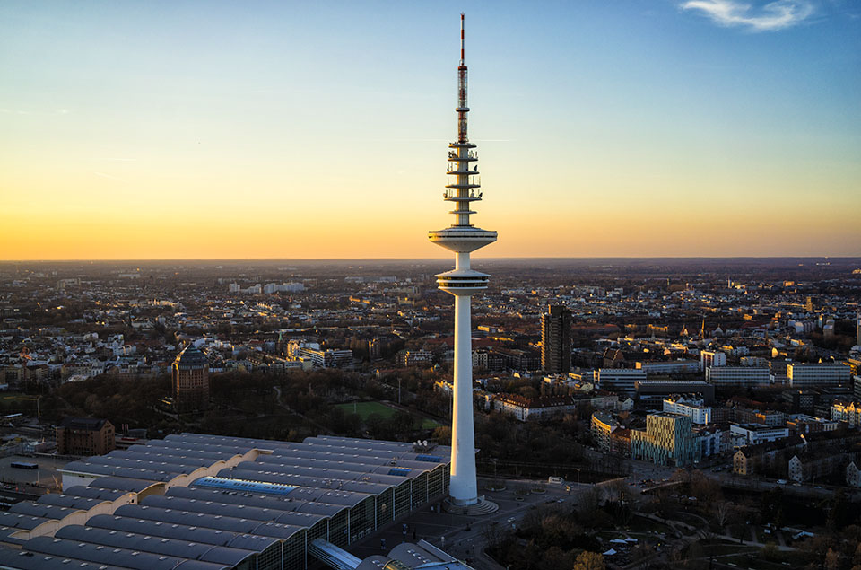 Der Fernsehturm in Hamburg
