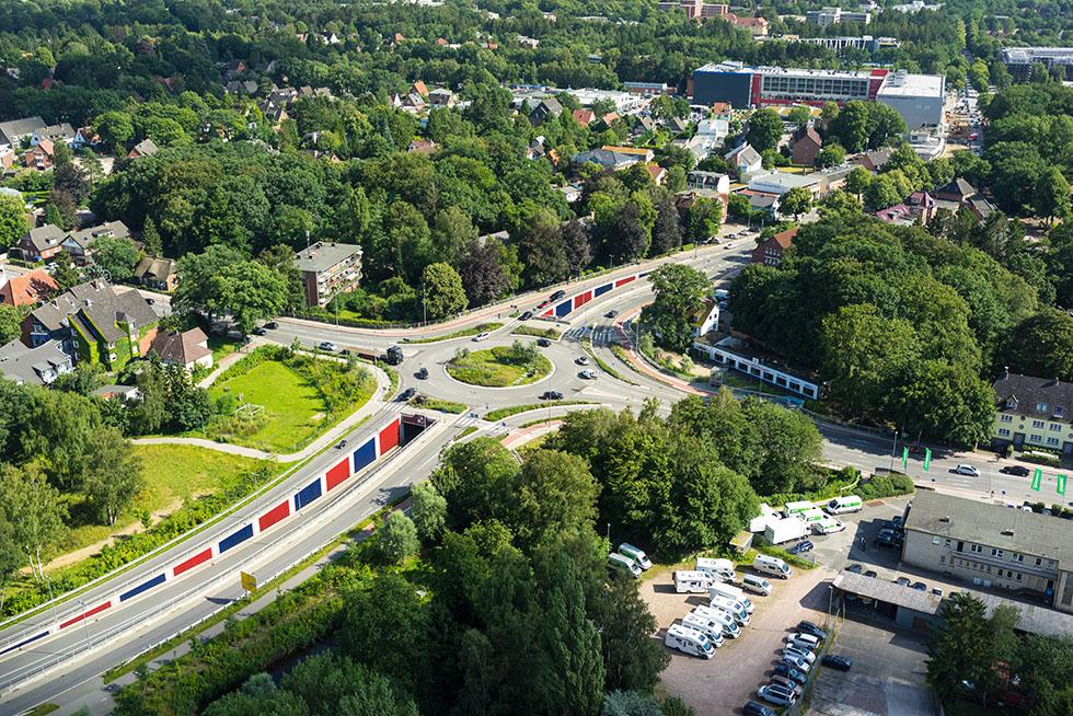 Kreisverkehr und Unterführung beendeten Jahrzehnte andauernde Staus