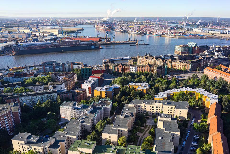Wohnen in Hamburg Altona – mit Blick auf den Hafen